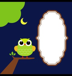 Night Owl with moon vector image vector image