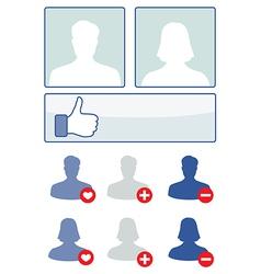 social media set - vector image vector image
