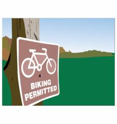 biking permitted vector image vector image