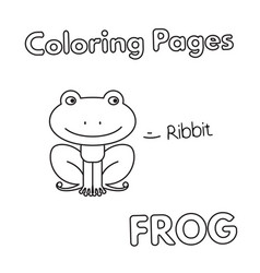 cartoon frog coloring book vector image