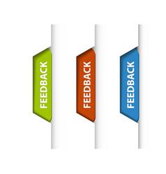 feedback tabs vector image