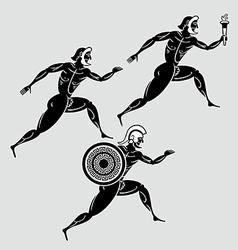 Greek runners vector image