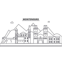 montenegro architecture line skyline vector image vector image