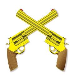 pistol revolvers vector image vector image