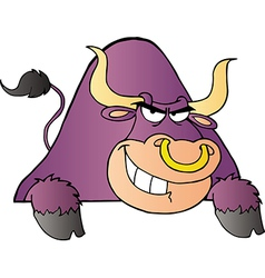 Purple Bull vector image