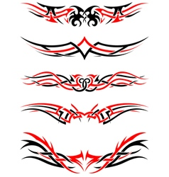 Setof Tribal Tattoos vector image vector image
