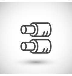 Tube insulation line icon vector image vector image