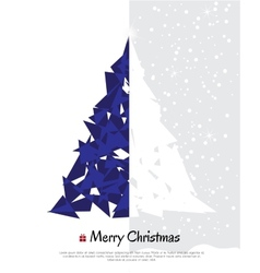 Abstract christmas card with modern elements vector image