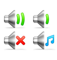 Audio volume icons vector image vector image