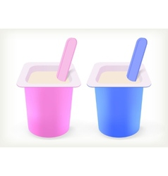 Fruit yogurt vector image vector image