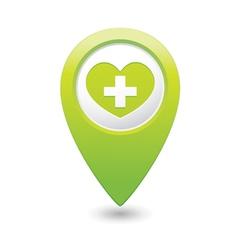 medical icon green pointer vector image vector image