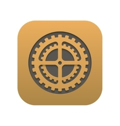 modern mechanism icon app isolated on white vector image
