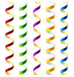 party streamers seamless vector image vector image