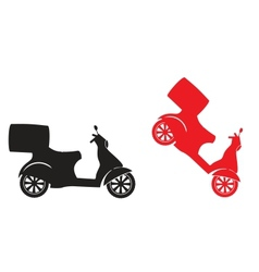scooter silhouette - fast delivery service symbol vector image vector image