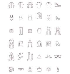 Women clothes set vector