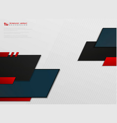abstract gradient blue and red tech template vector image