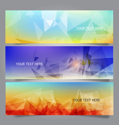 abstract low poly banners vector image