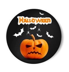 angry surprised halloween realistic black vector image