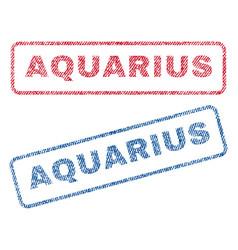 Aquarius textile stamps vector