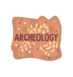 Archeology science poster banner template vector