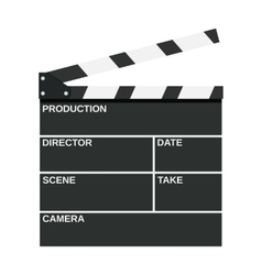 Black opened clapperboard vector image