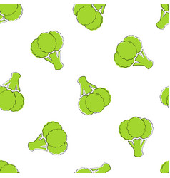 Broccoli vegetable seamless background graphic vector