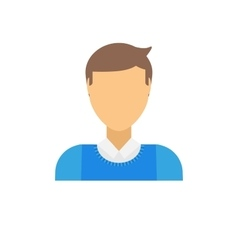 Business man icon abstract face office people vector image
