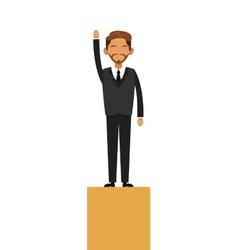businessman on platform icon vector image
