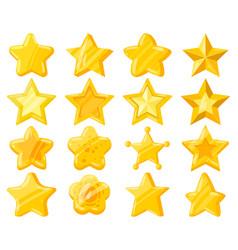 cartoon mobile web game ui golden stars casual vector image