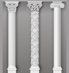 Classic antique white columns in graphics vector