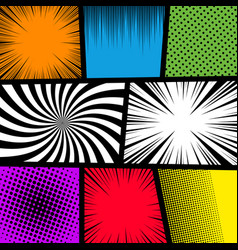 comic book page colorful template vector image