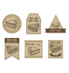 Craft labels vintage design vector