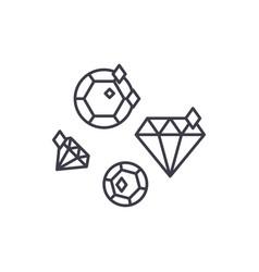 diamonds line icon concept diamonds linear vector image