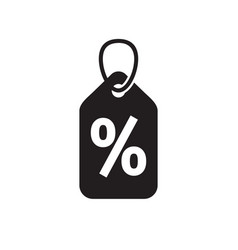 discount offer percent tag - concept black icon vector image