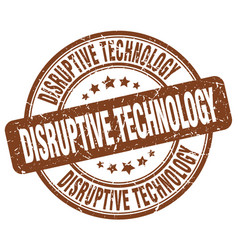 Disruptive technology brown grunge stamp vector