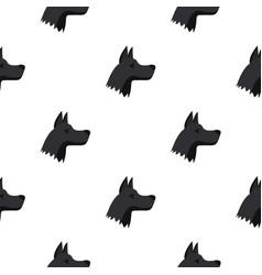 Doberman dog pattern seamless vector