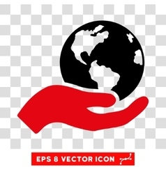 Earth Care Hand Eps Icon vector image
