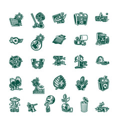 ecology concept collection set vector image