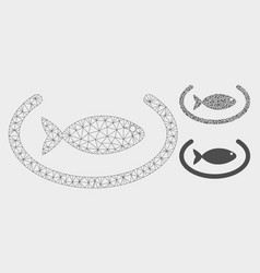 Fish container ring mesh carcass model and vector
