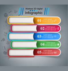 five color book - business infographic vector image