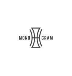 geometric monogram oh vector image