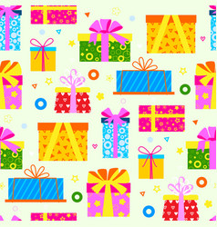 gift box packs composition event greeting object vector image