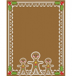 gingerbread man border vector image