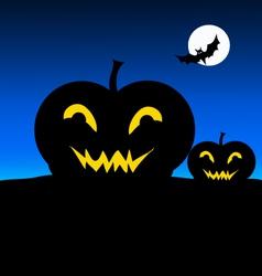 Halloween Night and Pumpkin vector image