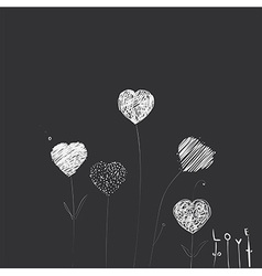 Heart-flowers vector image