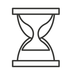 Hour glass isolated icon design vector
