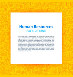 human resources paper template vector image