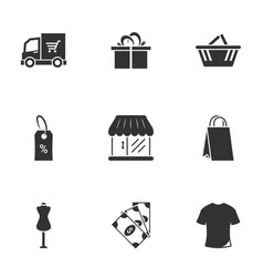Icons for theme shopping vector