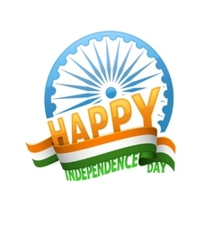 India independence day badge 15th of august vector