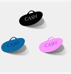 Isolated sticker labels emblem cash back vector